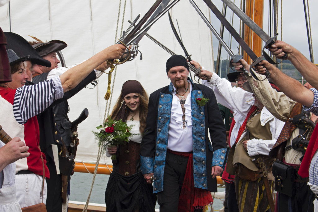 Conwy Pirate Weekend wedding