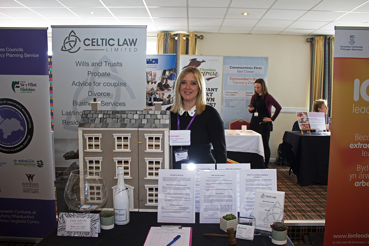 Celtic Law stall at the Mingle for Business Conference 2017.