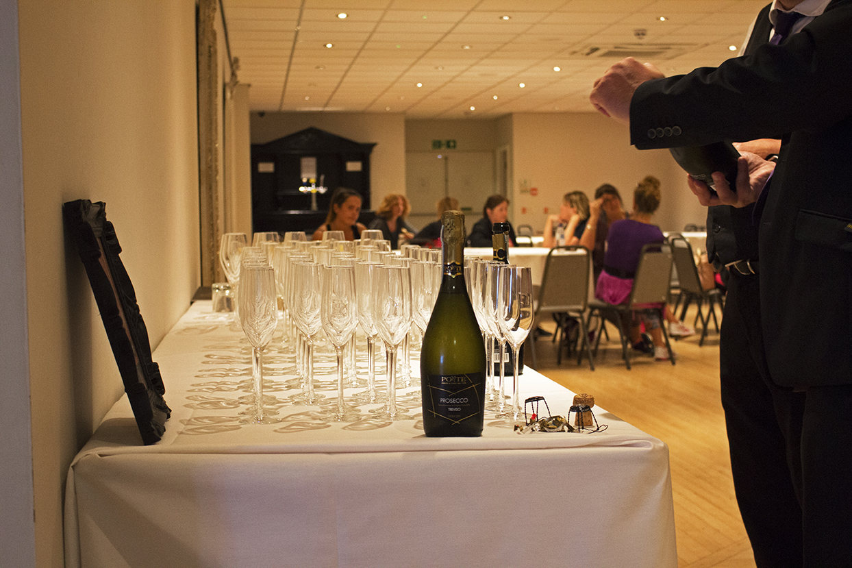 The Llandudno Bay Hotel getting the prosecco ready for all the women.