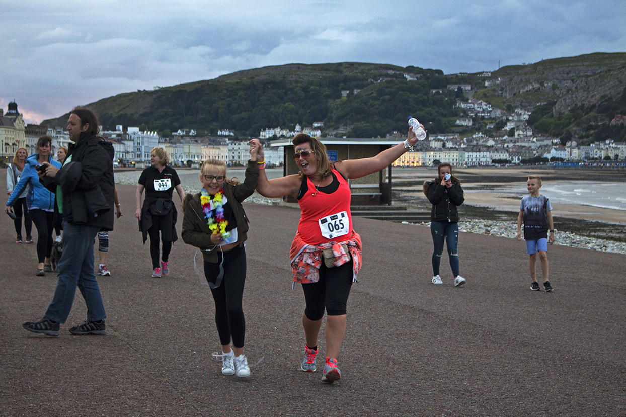 One lady was joined by a member of the family near the finish line.