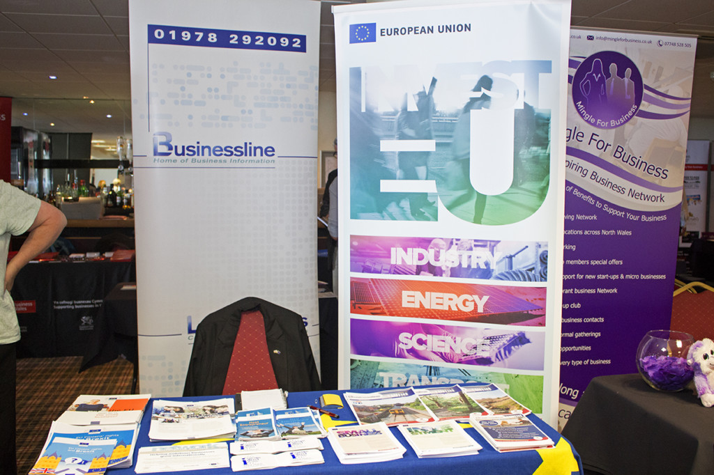 Photograph of the Business Line stand.