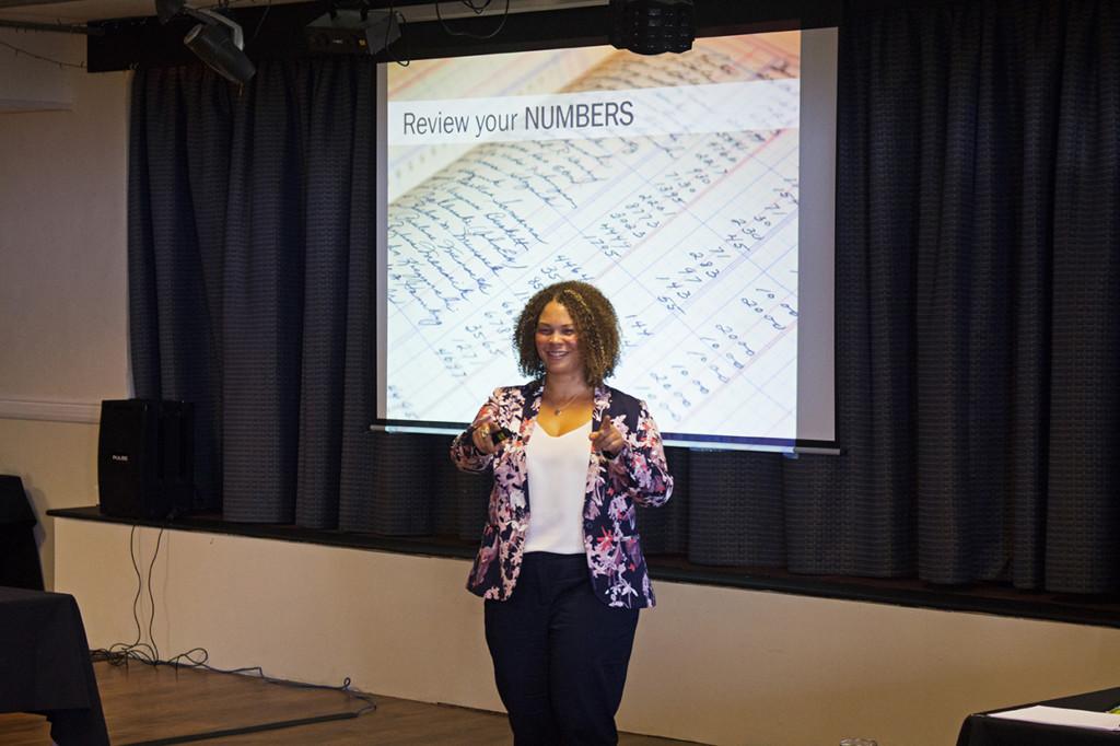 Amanda Daniels telling us her 11 steps to marketing.