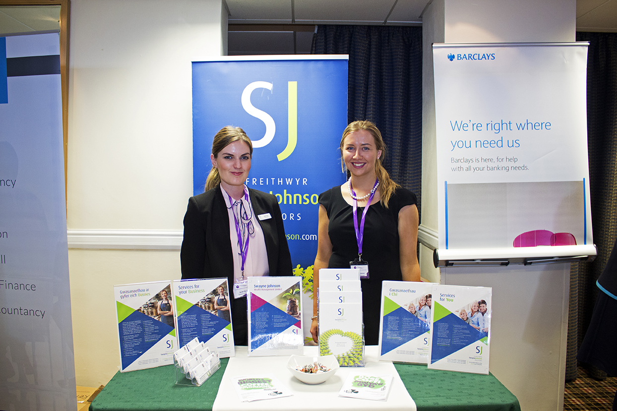 Two lovely women from Swayne Johnson's solicitors.