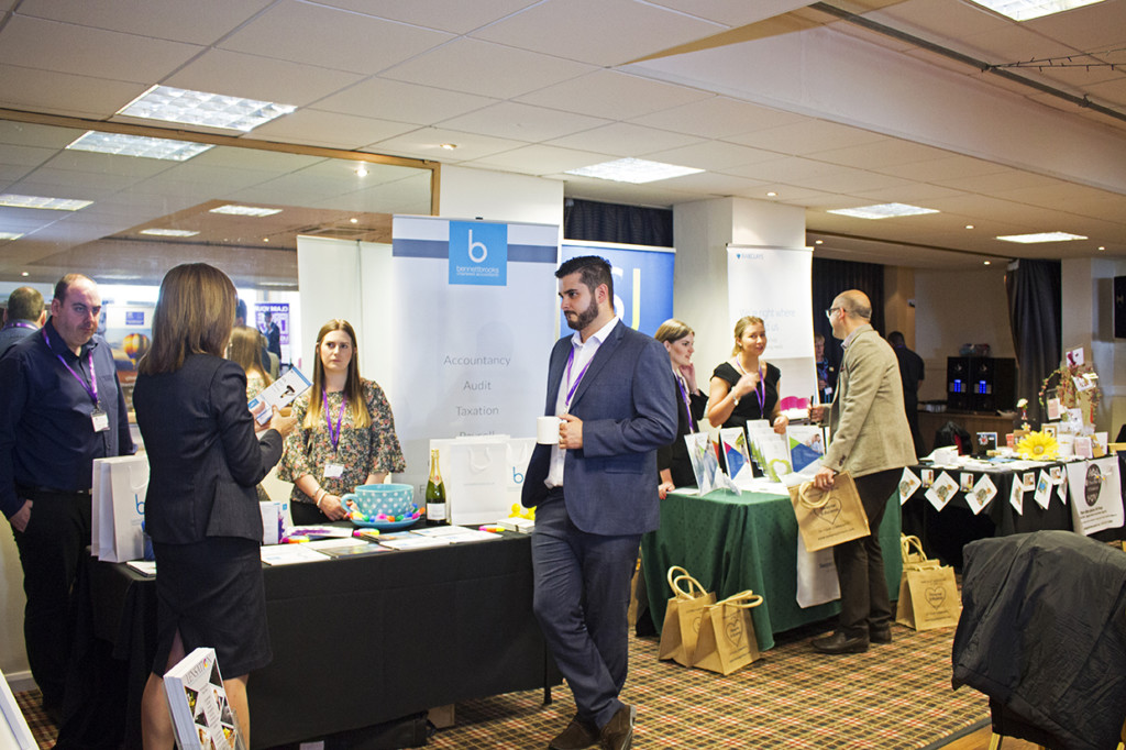 Businesses networking together,